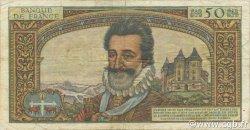 50 Nouveaux Francs HENRI IV FRANCE  1959 F.58.03 B+