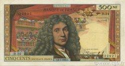 500 Nouveaux Francs MOLIÈRE FRANCE  1966 F.60.09 TB à TTB