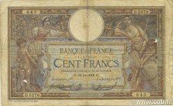 100 Francs LUC OLIVIER MERSON sans LOM FRANCE  1918 F.23.10 B+