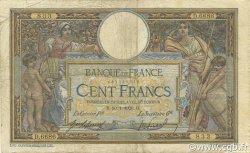 100 Francs LUC OLIVIER MERSON sans LOM FRANCE  1920 F.23.12 B+