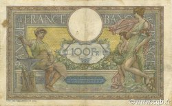 100 Francs LUC OLIVIER MERSON sans LOM FRANCE  1921 F.23.14 B à TB