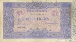 1000 Francs BLEU ET ROSE FRANCE  1912 F.36.26 B+