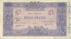 1000 Francs BLEU ET ROSE FRANCE  1916 F.36.30 TB+