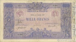 1000 Francs BLEU ET ROSE FRANCE  1917 F.36.31 B+