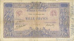 1000 Francs BLEU ET ROSE FRANCE  1924 F.36.40 B+