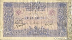 1000 Francs BLEU ET ROSE FRANCE  1924 F.36.40 TTB