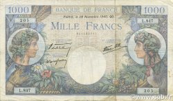 1000 Francs COMMERCE ET INDUSTRIE FRANCE  1940 F.39.02 TB+