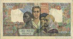 5000 Francs EMPIRE FRANçAIS FRANCE  1945 F.47.22 TB