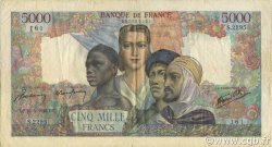 5000 Francs EMPIRE FRANÇAIS FRANCE  1946 F.47.53 TB à TTB