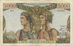 5000 Francs TERRE ET MER FRANCE  1949 F.48.01 TB
