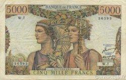 5000 Francs TERRE ET MER FRANCE  1949 F.48.01 TB+