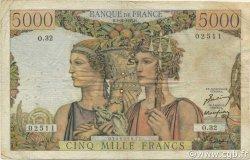 5000 Francs TERRE ET MER FRANCE  1949 F.48.02 B+