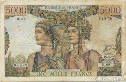 5000 Francs TERRE ET MER FRANCE  1951 F.48.04 B+