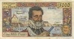 5000 Francs HENRI IV FRANCE  1957 F.49.02 TTB