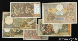 Lot 6 billets BdF : Les 100 Francs au XXe siècle FRANCE  1940 F.25-26-28-59-65-69 TTB