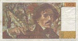 100 Francs DELACROIX imprimé en continu FRANCE  1990 F.69bis.01a TB+