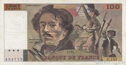 100 Francs DELACROIX imprimé en continu FRANCE  1990 F.69bis.02a TTB+