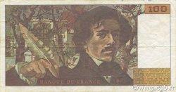 100 Francs DELACROIX imprimé en continu FRANCE  1990 F.69bis.02b TTB