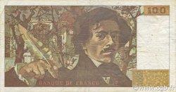 100 Francs DELACROIX imprimé en continu FRANCE  1991 F.69bis.03a2 TB+