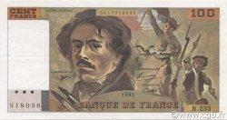 100 Francs DELACROIX imprimé en continu FRANCE  1993 F.69bis.08 SUP+