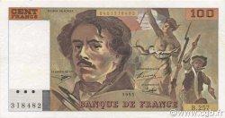 100 Francs DELACROIX 442-1 & 442-2 FRANCE  1995 F.69ter.02a SUP+