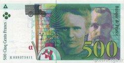 500 Francs PIERRE ET MARIE CURIE sans STRAP FRANCE  1998 F.76qua.04 pr.NEUF
