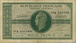 1000 Francs Marianne Chiffres gras FRANCE  1945 VF.12.01 TTB