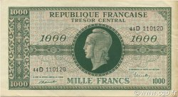 1000 Francs Marianne Chiffres maigres FRANCE  1945 VF.13.01 TTB+