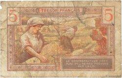 5 Francs Trésor Français FRANCE  1947 VF.29.01 B+