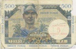 5 NF/ 500 Francs Trésor Public FRANCE  1960 VF.37.01 AB