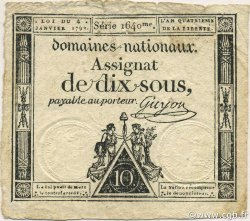 10 Sous FRANCE  1792 Ass.023a TTB