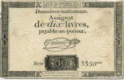 10 Livres FRANCE  1792 Ass.036a TTB