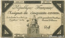 50 Livres FRANCE  1792 Ass.039a TB+