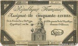 50 Livres FRANCE  1792 Ass.039a B+