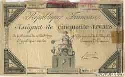50 Livres FRANCE  1792 Ass.039a TB+