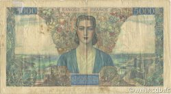 5000 Francs EMPIRE FRANÇAIS FRANCE  1942 F.47.03 B+