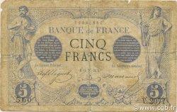 5 Francs NOIR FRANCE  1873 F.01.16 B