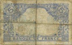 5 Francs BLEU FRANCE  1913 F.02.21 B à TB