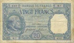 20 Francs BAYARD FRANCE  1916 F.11.01 TB