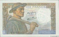 10 Francs MINEUR FRANKREICH  1946 F.08.15 fST