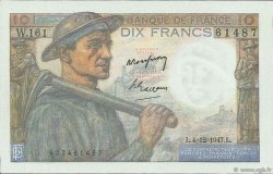 10 Francs MINEUR FRANCE  1947 F.08.19 SPL+