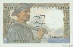 10 Francs MINEUR FRANCE  1947 F.08.19 SUP