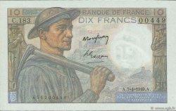 10 Francs MINEUR FRANCE  1949 F.08.21 pr.SPL