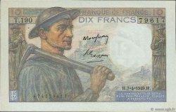10 Francs MINEUR FRANCE  1949 F.08.21 SPL