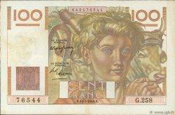 100 Francs JEUNE PAYSAN FRANCE  1948 F.28.19 SUP