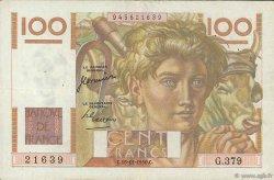 100 Francs JEUNE PAYSAN FRANCE  1950 F.28.28 TTB+