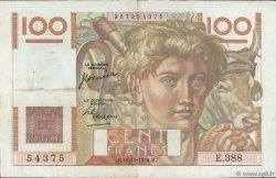 100 Francs JEUNE PAYSAN FRANCE  1950 F.28.28 VF