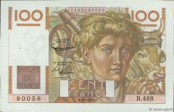 100 Francs JEUNE PAYSAN FRANCE  1952 F.28.33 XF