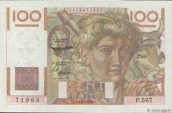 100 Francs JEUNE PAYSAN FRANCE  1953 F.28.39 SUP+