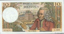 10 Francs VOLTAIRE FRANCE  1969 F.62.39 SUP+